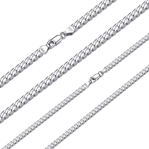 ChainsHouse Collar Plata Eslabones Cubano Italiana Artesania Silver Necklace 925 for Men Women 71cm Long Link Chain Cadena Regalo Acción de Gracias