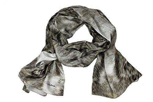 Roberto Cavalli Damen Schal Scarf im Geschenkbox Made in Italy 20205 Animal-Look