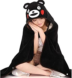 EXTOY 1Pcs Cute Anime Kumamon Bear Plush Cloak Super Soft Coral Fleece Cosplay Adult Hooded Shawl Cape Wrap Blanket Kids Toys Gift Must Haves for Kids Baby Girl Gifts The Favourite DVD