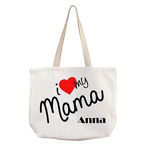 Bolsa Te Quiero Mama Personalizada con Nombre/Texto. Regalos Dia de la Madre...