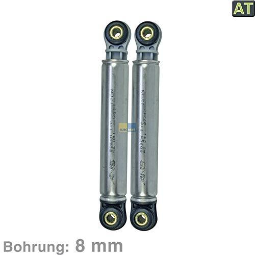 LUTH Premium Profi Parts Stoßdämpfer Dämpfer 120N mit 8mm Bohrung für Waschmaschine für Bosch Siemens Miele, 2 Stück