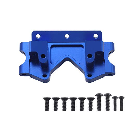 Aluminum Front Bulkhead Upgrade Parts for 1/10 Traxxas 2WD Slash Stampede Rustler Bandit Replace 2530 Blue-Anodized
