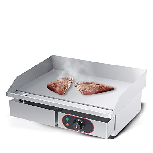 AYNEFY Electric Countertop Griddle, Stainless Steel Electric Griddle...