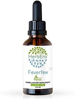 Feverfew B60 Alcohol-Free Herbal Extract Tincture, Super-Concentrated Organic Feverfew (Tanacetum parthenium) (2 fl oz)