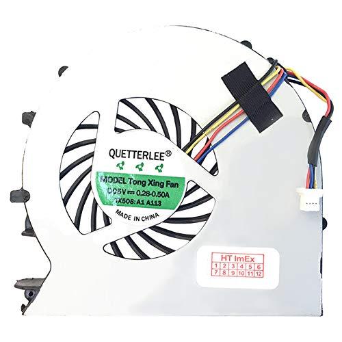 (Version 2) Lüfter/Kühler Fan kompatibel mit HP ProBook 440 G0 (G6W43EA), 440 G0 (L3P83ES), 440 G0 (H0Y49EP), 440 G0 (L7Z87EA), 450 G0 (H0V92EA), 450 G0 (H6P55EA)