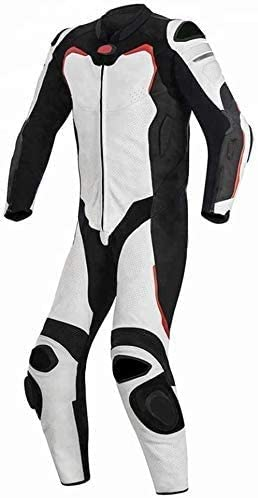 Motorcycle White and OFFicial site Black One Seasonal Wrap Introduction Piece Leather Racing Suit CE 364