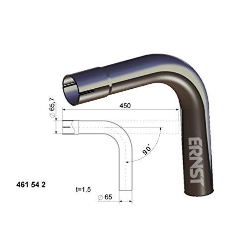 Rohrbogen 90° Ø 65 mm
