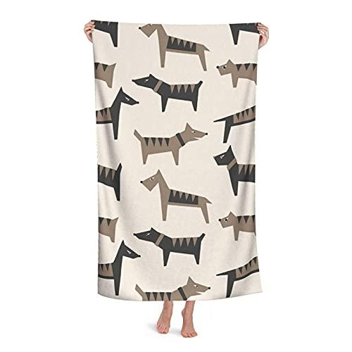 Towels Perros Toallas De Gimnasio Ligera Toallas De Piscina Cuidado Fácil Toallas De Baño por Mujer Viaje Piscina 80X130 Cm