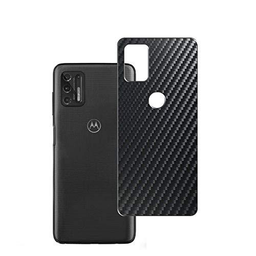 VacFun 2 Piezas Protector de pantalla Posterior, compatible con Motorola moto g stylus(2021), Película de Trasera de Fibra de carbono negra