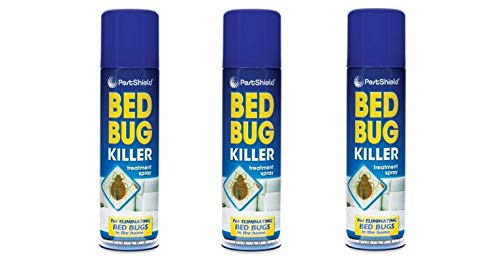 3 x PestShield Indoor Bed Bug Flea Killer Treatment Spray Carpet Mattress 200ml