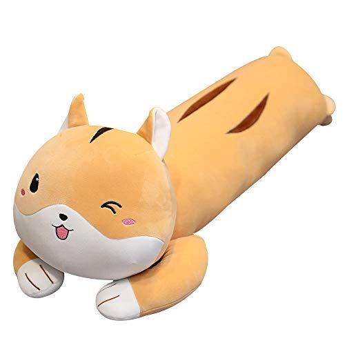 Pluche Cartoon Hamster Pop Knuffel Lappenpop Kussen Kat Lang Bed Pop-Bruine Hamster_100cm