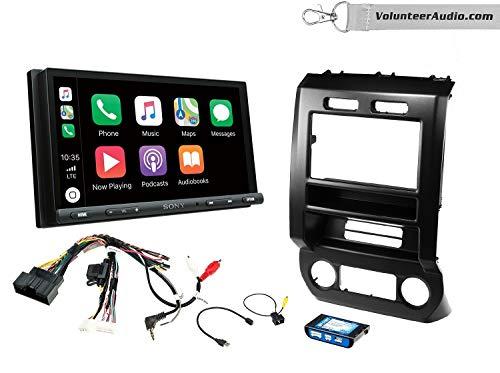 Sony XAV-AX5000 Double Din Radio Install Kit With Apple CarPlay, Android Auto, Sirius XM Ready Fits 2015-2016 Ford F-150, 2017 Ford F-250