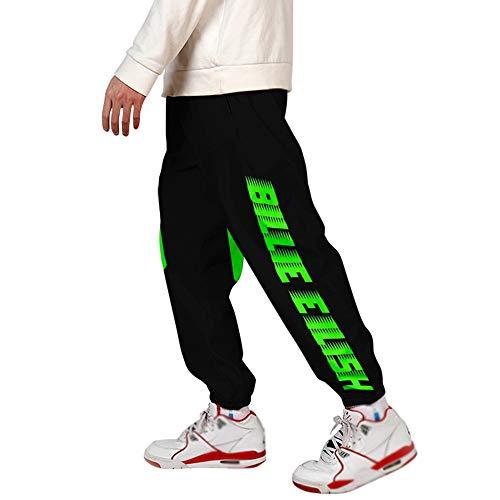 Billie Eilish Pantalons d'entraînement pour Hommes et Femmes, Pantalons de Sport, Pantalons de Fitness, vêtements de Sport en Plein air, Pantalons (Color : A, Size : L)