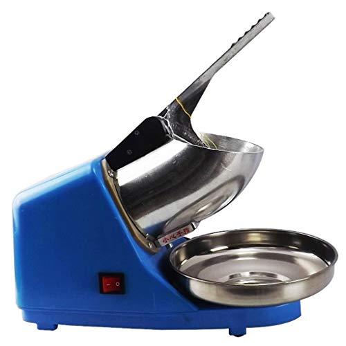 JCOCO Machine automatique de Smoothie, mélangeur à glace d'acier inoxydable de la puissance 300W élevée, machine à glace, concasseur à glace de cône de neige dédié de magasin de thé (Couleur : Bleu)