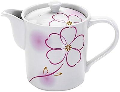 美濃焼 MH ポット (筒型茶こし付き) 桜吹ピンク 小 043341