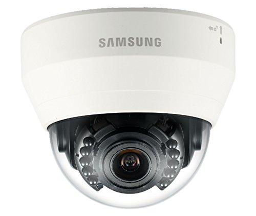 Samsung SNVL6083RP Telecamera Dome IP da Esterno Antivandolo 2 MP, Wisenet Lite, 3-10 mm, IR 20M, Icr 90/270°, Sdhc, Poe, Bianco