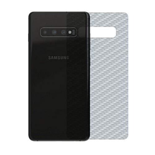 Película Traseira Adesivo Skin Fibra Carbono Samsung S10+ Plus