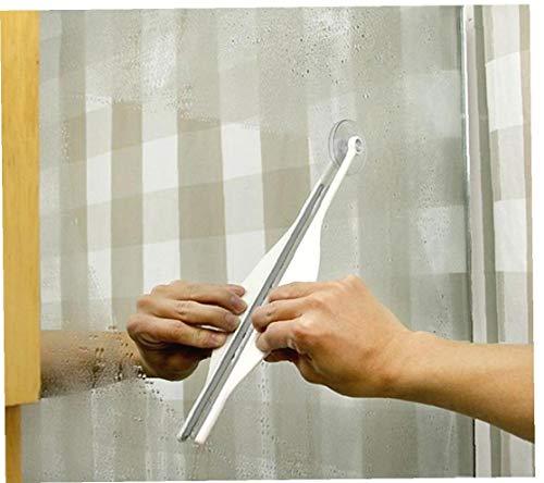Onsinic Cristal Espejo Cepillo De Limpieza De La Ventana De Coche De Vidrio Niebla Espejo De Baño Cepillo Limpiador Ventosa Plana Cleaner