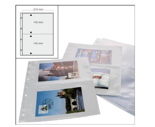 100 x SAFE FOTOHÜLLEN DIN A4 NR. 5477 - 100 - MIT 2 TASCHEN DIN A5 - 215 x 145 MM - PLATZ FÜR BIS ZU 400 BILDER - IDEAL FÜR GROSSE FOTOS 13 x 18 cm - URLAUBSBILDER - UNISERSAL LOCHUNG - DOKUMENTENECHT - GLASKLAR - TRANSPARENT - WEICHMACHERFREI -