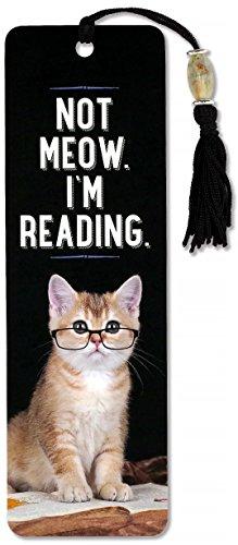 Not Meow, I'm Reading Beaded Bookmark