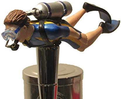Scuba Diver Beer Tap Handle Breweriana Sports Hunt Kegerator Free Shipping New Sale price Bar