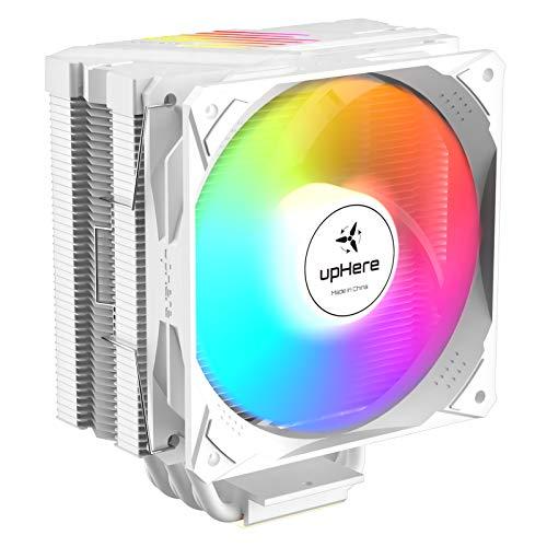 upHere N1064ARGB - Ventilador para CPU (6 tubos de calor, 120 mm, PWM LED ARGB, para Intel y AMD, N1064ARGB)
