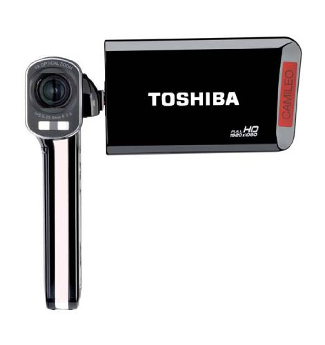 Toshiba Camileo P100 Full-HD Camcorder (7,6 cm (3 Zoll) Display, 8 Megapixel CMOS, 5-Fach Opt. Zoom, Kartenslot, HDMI, USB) schwarz