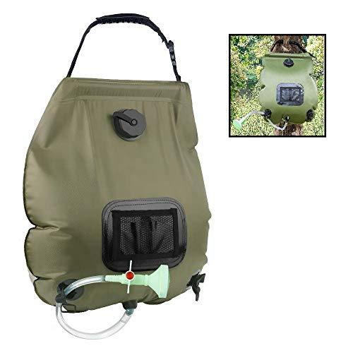 Review HOHT Camping Accessories; Portable Outdoor Shower, Solar Heating - Compact Handheld Camping S...