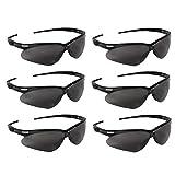 KLEENGUARD (Formerly Jackson Safety V30 Nemesis Safety Glasses/Sunglasses 22475 Black Frame, Smoke Anti-Fog Lens (6 Pair)