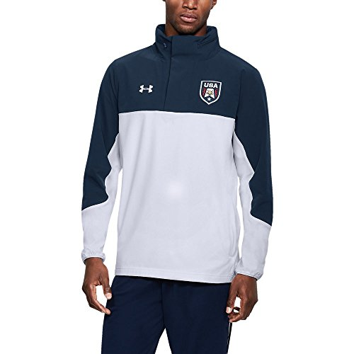 Under Armour UA Stars & Stripes Woven ½ Zip MD White
