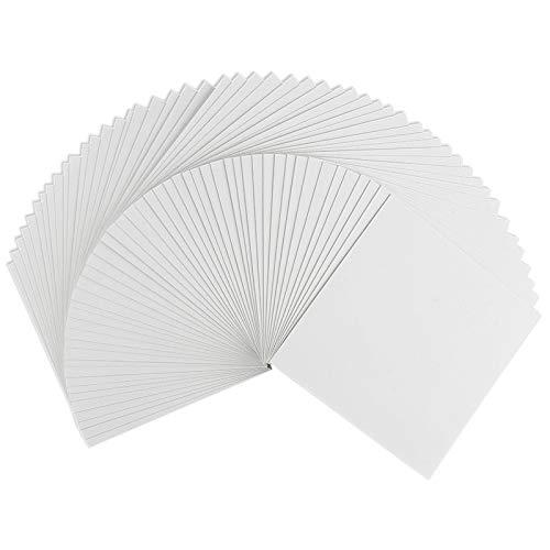 Klappkarten-Set blanko   50 Faltkarten   Karten zum Selbstgestalten   ideal zum Basteln von Grußkarten & Einladungskarten   16 cm x 16 cm   230 g/m²   weiß   50 Stück