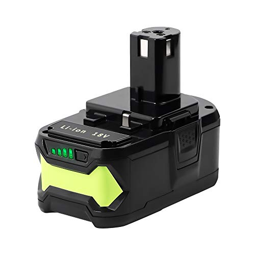 Jialitt 18V 5.5Ah accu voor Ryobi 18V accuapparaten One+ lithium-ion-reserveaccu RB18L15 RB18L25 RB18L30 RB18L40 RB18L50 P102 P103 P107 P108 P109 met LED-laadstatindicator