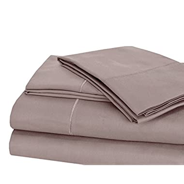 CHATEAU HOME COLLECTION Luxury 100% Pima Cotton 500 Thread Count Ultra Soft Solid Sheet Set, Lowest Prices - Mega Sale, KING- Purple Ash