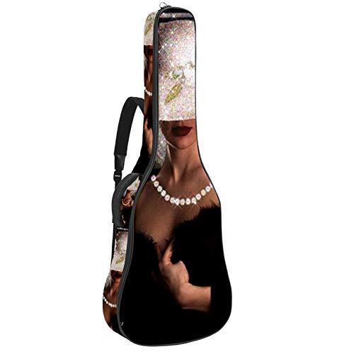 Bolsa para guitarra, tela Oxford impermeable, 2 bolsillos para guitarra acústica clásica de 40 41 42 pulgadas, Maria Padilha Das Almas