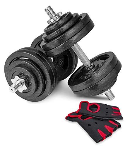 Hop-Sport Guss Kurzhanteln Hantel Set Hanteln 10kg 15kg 20kg 30kg 40kg 60 kg Gewichte (2 x 30 kg)