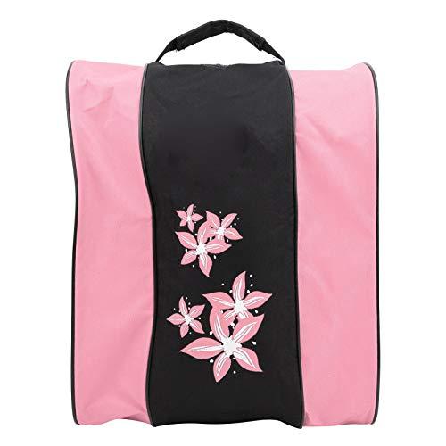 Soapow 3 Layers Nylon Roller Skate Backpack Single‑shoulder Bag Leisure Sports Packsack