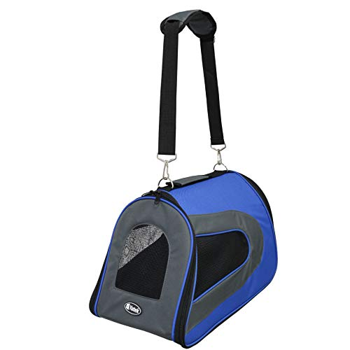 YATEK Folding Dog and Cat Carrier, Padded Waterproof Carrying Bag, size 48 x 27 x 27 cm,...