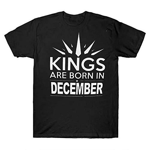 Kings are Born in December R_a_glan 34 Sleeve Tees Happy Birthday t Shirt Quarantine Shirt White