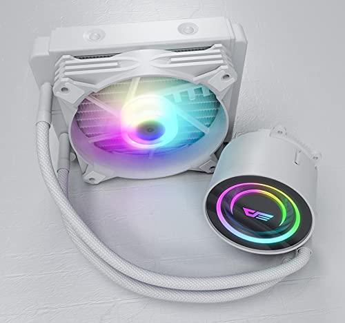 DX 120/240/360 Refrigeración por agua UPC Enfriador ARGB Ventilador del disipador de calor del refrigerador de agua líquida radiador LGA 2066/1155/2011 / AM3 + / AM4 AMD ( Blade Color : DX120 white )