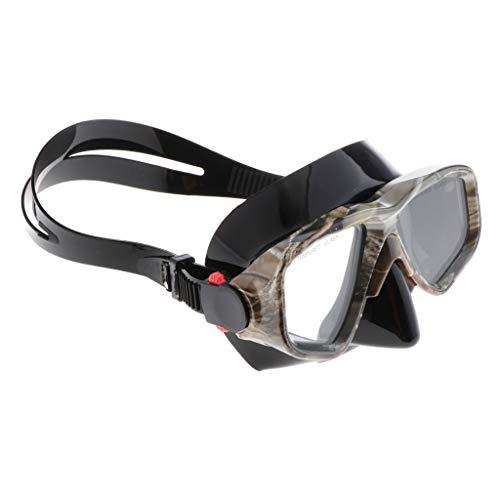 Sharplace Gafas de Buceo Impermeables Hombres Mujeres Deportes Acuáticos Máscara de Natación con Correa Ajustable