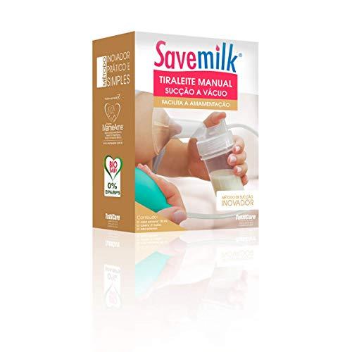 Tiraleite manual sucção a vácuo, SaveMilk, Incolor/Bulvo Verde Claro