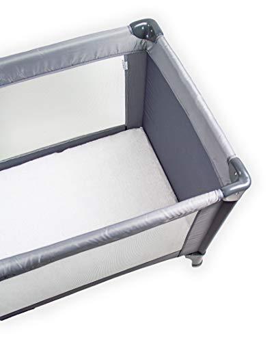 Briljant baby - hoeslaken voor luchtbed, campingbed, reisbed - 60 x 120 cm wit - 100% frotté hoogwaardige kwaliteit