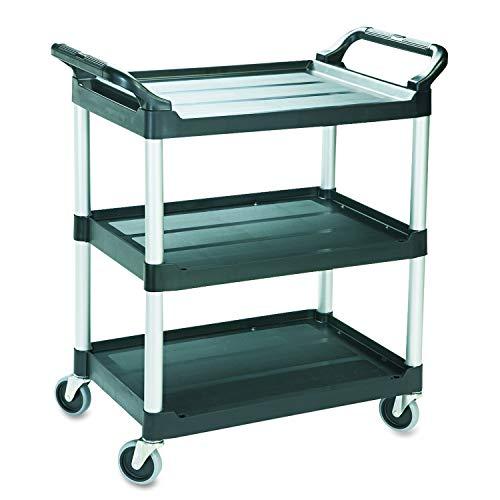 Simpli-Magic 79232 Utility Service Cart, 3 Shelf, Black