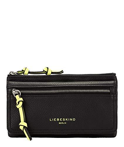 Liebeskind Berlin Damen Finsbury - Layla Wallet Large Geldbörse, Schwarz (Black), 2x11.5x18.5 cm