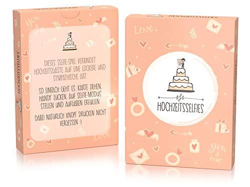 Hochzeitsselfies als Hochzeitsspiel – Box mit kreativen und Lustigen Fotoaufgaben – Tolles Spiel für Gäste Oder Geschenkidee für Das Brautpaar – Eisbrecher für die Hochzeit