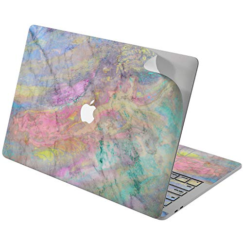 Cavka Vinyl Decal Skin for Apple MacBook Pro 13' 2019 15' 2018 Air 13' 2020 Retina 2015 Mac 11' Mac 12' Marble Painted Texture Tender Cover Laptop Sticker Pink Pretty Print Protective Design Colorful