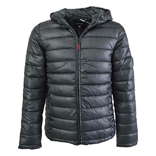 Anapurna Calender Hood WT1510H-Gris-XXL Doudoune à capuche avec fermeture éclair à manches longues pour homme