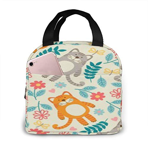 Bolsa de almuerzo aislada portátil BONRI Cats, bolsa de almuerzo aislada reutilizable, lonchera portátil, bolsa de almuerzo, bolsa de almacenamiento