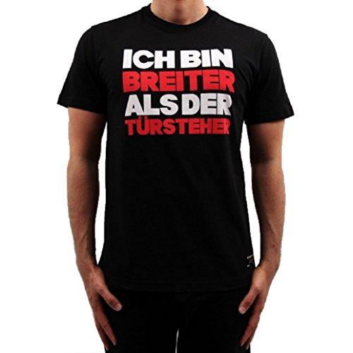 Banger Musik Majoe T-Shirt Breiter als der Türsteher schwarz (S)