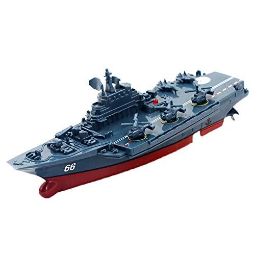 Zidao 4 con Mando A Distancia-Mini Barco De Guerra La Nave Fragata Sistema Incluyendo Batería Completa Control Remoto Adecuado para Juguetes Niños Partir Años,Azul